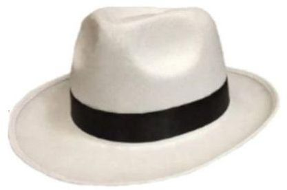 8b02f9425 Michael Jackson King of Pop white smooth criminal unisex free size hat  costume