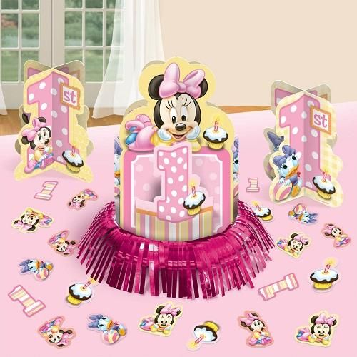 Minnie Mouse 1st Birthday Table Decorating Kit Souq Uae