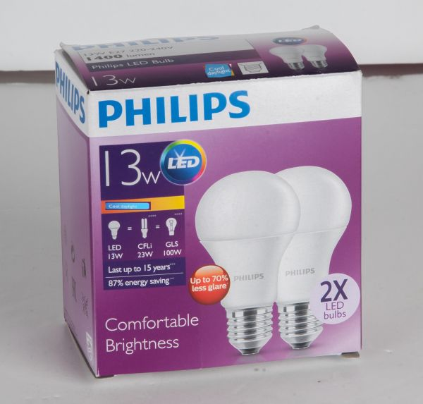 Philips LED Bulb 13-100W E27 Cool Daylight – 2 Pack
