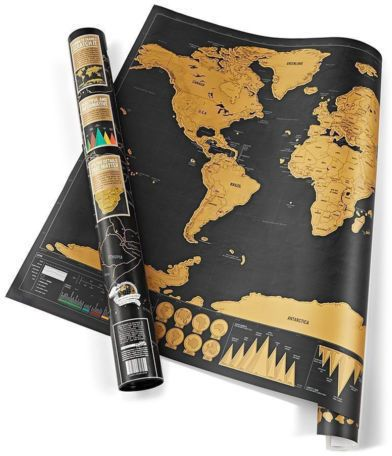 Deluxe travel edition scratch off world map poster personalized 4200 aed gumiabroncs Choice Image