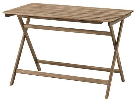 Table, outdoor, foldable grey-brown stained