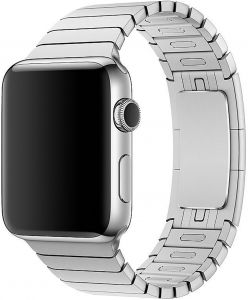 Stainless Steel Band Strap with Screen Protector for 38mm Apple Watch, Silver