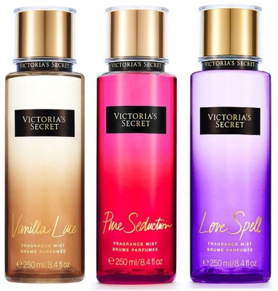 2493be186c Victoria s Secret Pure Seduction Vanilla Lace and Love Spell Fragrance  Mists trio pack