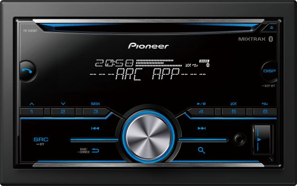 Pioneer (FH-S505BT) 2DIN Car Audio Stereo, CD/USB/AUX Player,  iOS/Android/Bluetooth/Sub-woofer Control