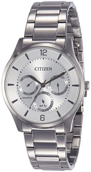 f78244342aa5a Citizen Men s Silver Dial Stainless Steel Band Watch - AG8351-86A ...