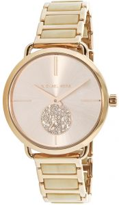 369068aced00 Michael Kors Portia Women s Rose Gold Dial Stainless Steel Band Watch -  MK3678