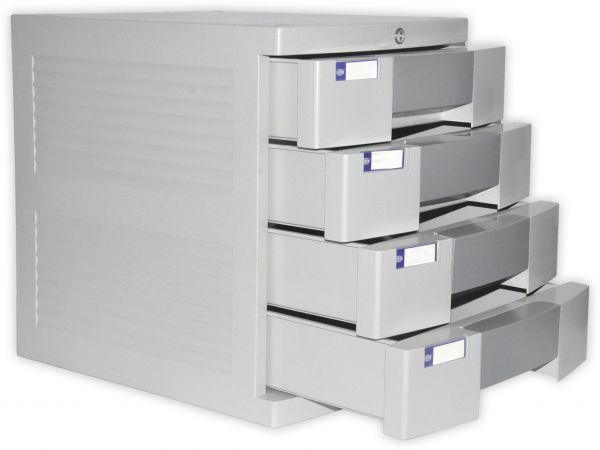 FIS File Cabinet (Plastic) With Key, 4 Drawers   FSOT2K