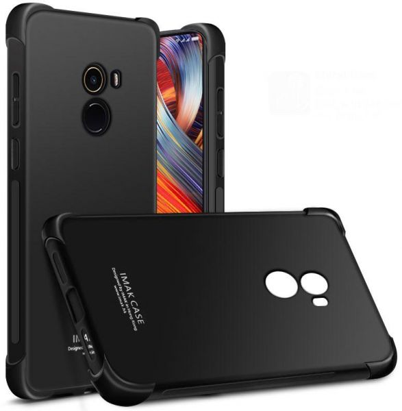outlet store 49f6c cb1f1 IMAK Xiaomi Mi Mix 2 - Shockproof Soft Case Cover With Screen Protector  Black