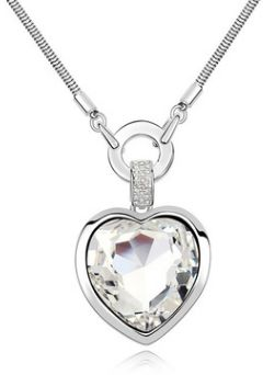 Simple and stylish heart-shaped necklace