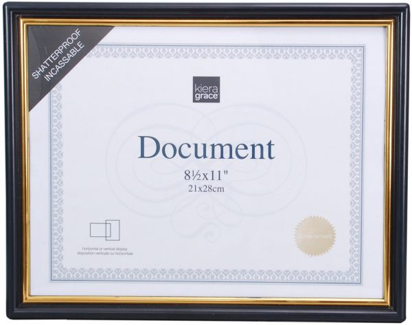 Kiera Grace Accent Document Frame with Plexi Sheet, 8.5 by 11 Inch ...