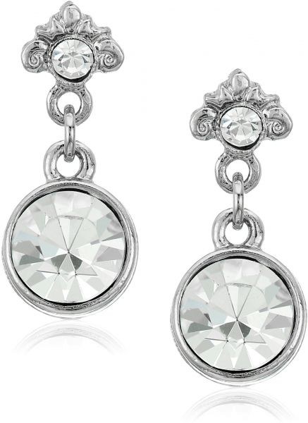 synthetic sterling plated product diamond silver with ribbon jewelry platinum earrings