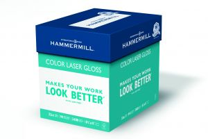 Hammermill Paper Color Laser Gloss 32lb 85 X 11 Inch Letter 94 Bright 2400 Sheets 8 Ream Case163110C Made In The USA