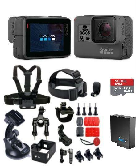 gopro hero 6 black with gopro rechargeable battery for. Black Bedroom Furniture Sets. Home Design Ideas