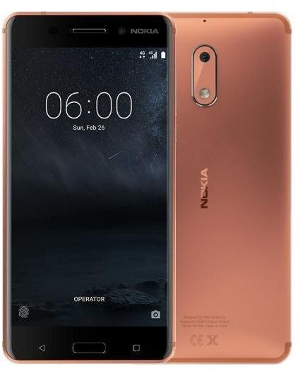 Nokia 6 Dual Sim - 64GB, 4GB RAM, 4G LTE, BLACK,COPPER GOLD