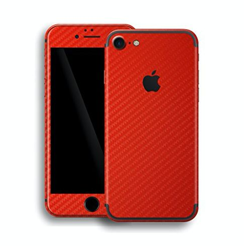 full body red carbon fibre sticker skin for iphone 7