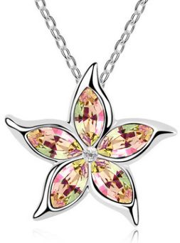 colorful crystal necklace pendant