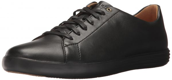 Cole Haan Men's Grand Crosscourt II Sneaker, Black Leather/Black, 13 Medium  US