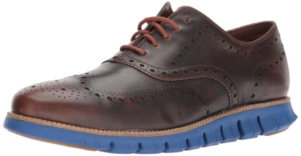 Cole Haan Men's Zerogrand Wing Leather, Woodbury/Limoges Blue, 7.5 Medium US