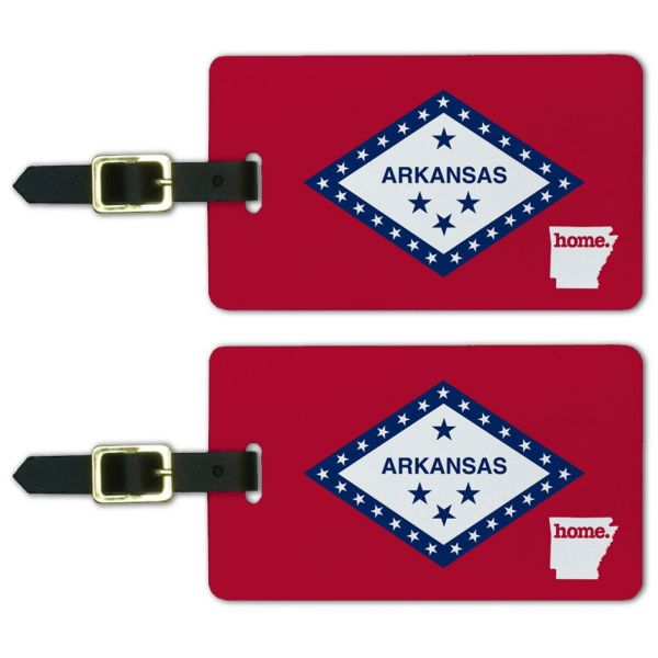 Graphics & More Arkansas Ar Home State Luggage Suitcase Id Tags-Flag, White