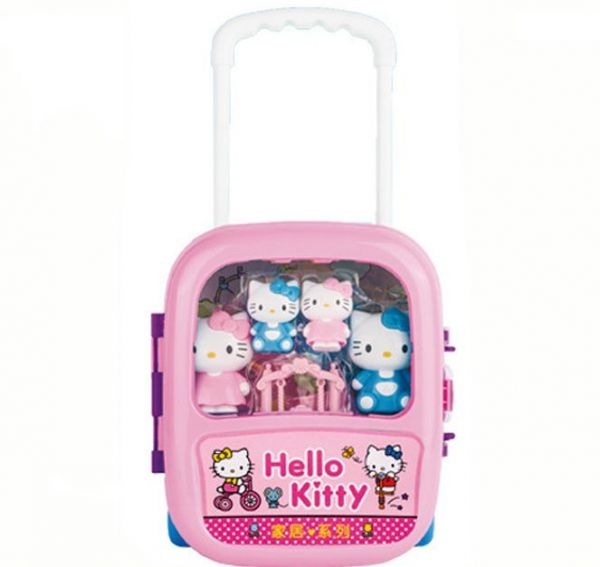 8cb56624f4 Hello Kitty Suitcase Simulation Travel Luggage Kids Play House ...