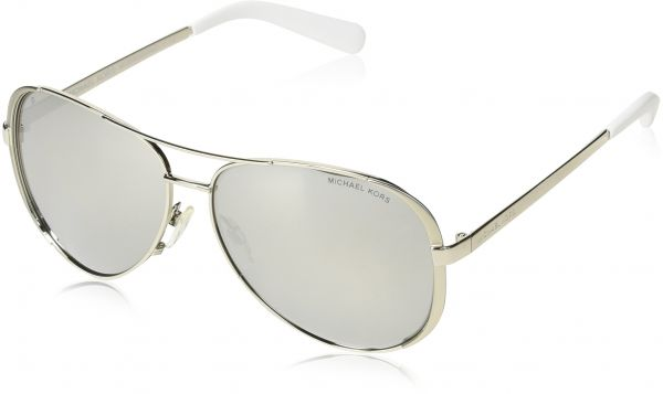 4dbc1bd8a0e Michael Kors Aviator Women s Sunglasses - MK5004-100-1Z3-59 - 59-13-135mm