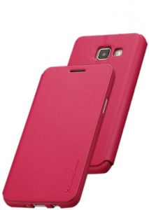 X-level FibColor Leather Flip Case Cover with Screen Protector for Samsung Galaxy A5 (2017) A520F in Pink