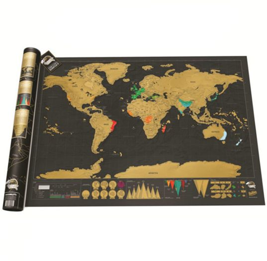 Souq travel edition scratch off world map poster personalized travel edition scratch off world map poster personalized journal maydj035 gumiabroncs Image collections