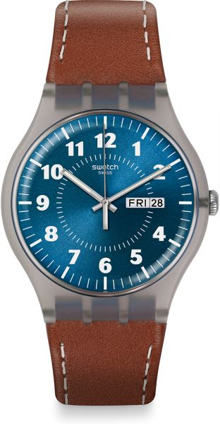 Swatch Casual Watch For Men Analog Leather - SUOK709 fa2bbf4a13