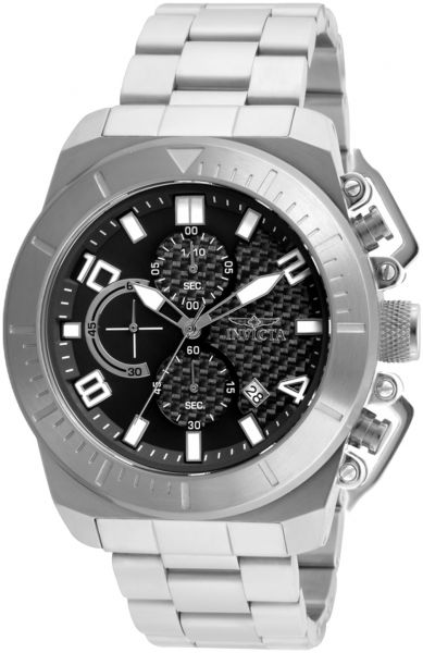 Invicta Men's Black Dial Stainless Steel Band Watch - 23400