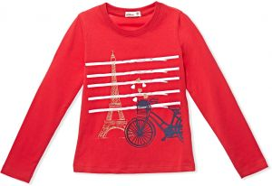a89e56eac8 Adams Kids Red Round Neck T-Shirt For Girls