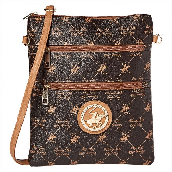 Beverly Hills Polo Club Crossbody Bag For Women Brown By Handbags