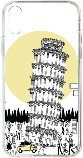 Switch Apple iPhone X Clear Case Leaning Tower Pisa - T - Multi Color