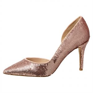 Aldo Heels for Women - Rose Gold