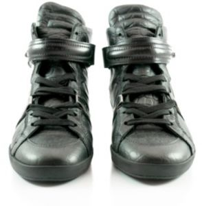 2603f59062d BARBARA BUI Black LEATHER SNEAKER SHOES For Women