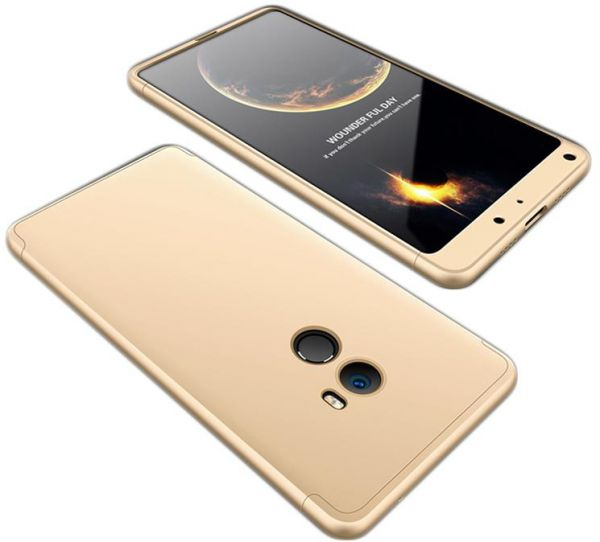 official photos 194c1 6ee35 Xiaomi Mi Mix 2 Case, Fashion ultra Slim Gkk 360 Cover Case - Gold