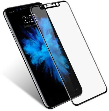 sale retailer 6fae1 71b3e 5D Curved Full Coverage Tempered Glass Screen Protector for Apple iPhone X  Black SAPU
