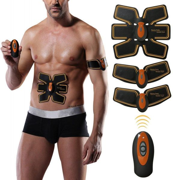 Abdominal Toning Belt Body Fitness Training Machine Waist Trainer Gym Workout And Home Apparatus For Men WomenWith USB Line