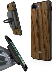 974d8cf26349 Evutec iPhone 8 PLUS   7 Plus   6S Plus AER case   cover - Burmese Rosewood  with AFIX Plus Air Vent magnetic Car mount