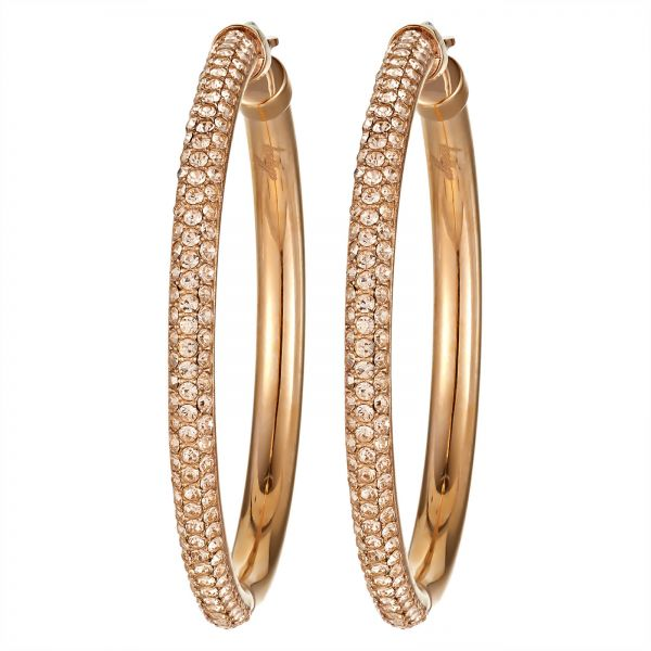 Dkny Women S Gold Plated Hoop Earrings Nj1960040