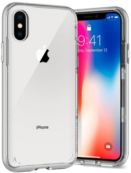 best service 30f3c 63539 Spigen iPhone X Neo Hybrid Crystal cover / case - Satin Silver