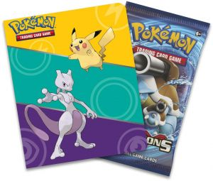 Pokemon Card Game Evolutions Pikachu Mewtwo Album with Booster Pack