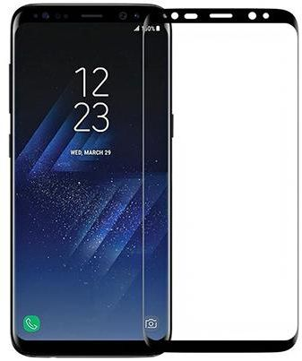 newest 0ab21 b8999 Samsung Galaxy S8 Plus 5D Curve Tempered Glass Screen Protector Black SAPU