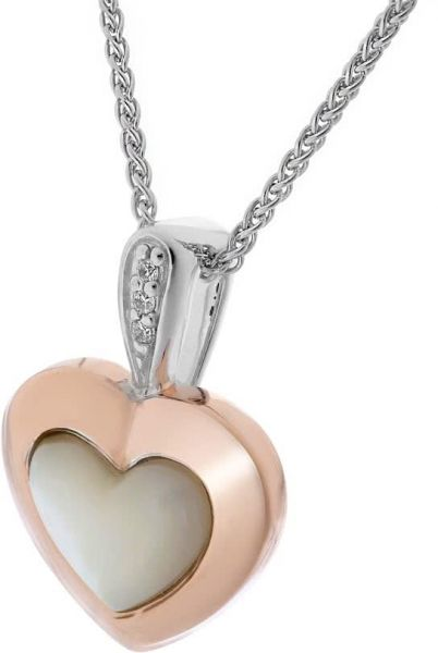 Orphelia womens silver rose gold pendant necklace price review 16695 aed 1779 bhd mozeypictures Image collections
