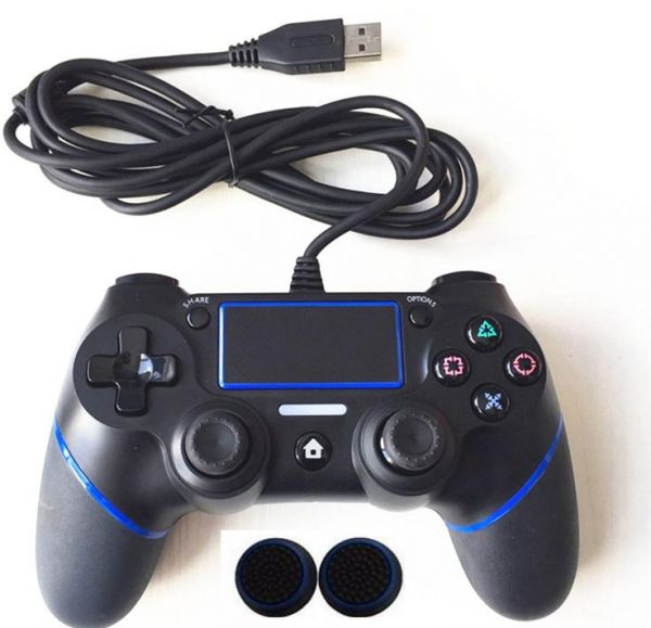 For PS4 Controller Wired Gamepad For Playstation Dualshock 4 Joystick  Gamepads Multiple Vibration 1 8M Cable For PS4 Console