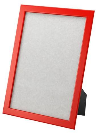 Frame of wooden picture frame Rectangular red color, used hanging or ...
