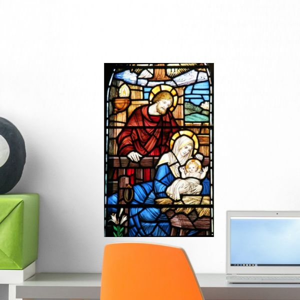 Souq Stained Gl Window Wall Mural By Wallmonkeys L And Stick Graphic Wm12592 18 H X 11 W Small Fot 4971919 Uae