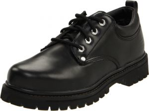 Skechers USA Men's Alley Cat Utility Oxford,Black Smooth,14 M US