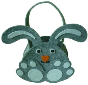 Sale on easter gift for kids buy easter gift for kids online at easter cute gray rabbit ear gift candy bag easter kids baskets negle Images