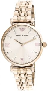 7bcf7cec6f826 Emporio Armani Women s Rose Gold Dial Stainless Steel Band Watch - AR11059