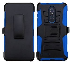 wholesale dealer e7d80 8a196 MyBat Cell Phone Case for ZTE Zmax Pro - Black/Blue